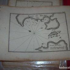 Arte: MAPA ANTIGUO S. XVIII EN PAPEL VERJURADO DE RADE DU MICONI . 17,5 CM X 23,5 CM . UNA JOYA!!!. Lote 122627995
