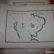 Arte: MAPA ANTIGUO S. XVIII EN PAPEL VERJURADO DE PORT DE PSARA. 17,5 CM X 23,5 CM . UNA JOYA!!!. Lote 122628175