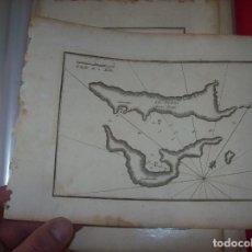 Arte: MAPA ANTIGUO S. XVIII EN PAPEL VERJURADO DE ISLES SELIDRONI . SPALMADOR. 17,5 CM X 23,5 CM .. Lote 122628255