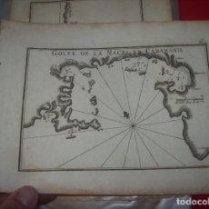 Arte: MAPA ANTIGUO S. XVIII EN PAPEL VERJURADO DE GOLFE DE LA MACRA EN CARAMANIE . 17,5 CM X 23,5 CM .. Lote 122628575