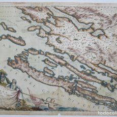 Arte: MAPA DEL CONDADO DE ZARA, DALMACIA, 1688, DESCRITO POR VINCENZO MARIA CORONELLI. 62,5X47,4CM. Lote 120487527