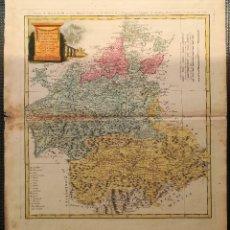 Arte: MAPA DE CASTILLA LA MANCHA - GUSFEFELD -TOMAS LOPEZ - AÑO 1781 - ORIGINAL. Lote 122773523