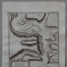 Arte: MAPA DEL PUERTO DE PASAJES (GUIPUZCOA, ESPAÑA), 1764. BELLIN. Lote 122813575