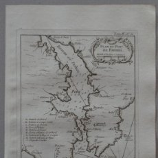 Arte: MAPA DEL PUERTO Y CIUDAD DE O FERROL ( A CORUÑA, GALICIA, ESPAÑA), 1764. BELLIN. Lote 257551260