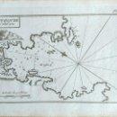 Arte: MAPA ANTIGUO DE CADAQUÉS GERONA AÑO 1764 CON CERTIF. AUTENTICIDAD. PORTULANOS ANTIGUOS CADAQUÉS. Lote 107004775