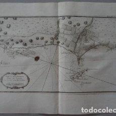 Arte: MAPA DEL PUERTO DE EL CALLAO Y ALREDEDORES DE LIMA ( PERÚ, AMÉRICA DEL SUR), 1764. BELLIN. Lote 123353683