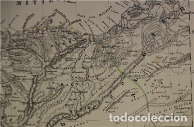 Arte: Mapa del norte de Marruecos y sur de España y Portugal, 1846. Carl Flemming - Foto 2 - 123471987