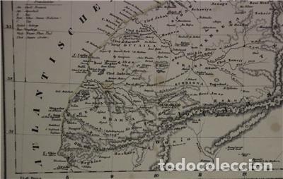 Arte: Mapa del norte de Marruecos y sur de España y Portugal, 1846. Carl Flemming - Foto 3 - 123471987