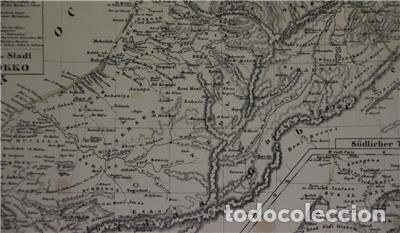 Arte: Mapa del norte de Marruecos y sur de España y Portugal, 1846. Carl Flemming - Foto 7 - 123471987