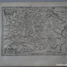 Arte: MAPA DE CASTILLA Y VALENCIA (ESPAÑA), 1610. MERCATUS/HONDIUS. Lote 124039583