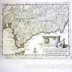 Arte: MAPA ANTIGUO ANDALUCIA AÑO 1707 CON CERTIFICADO DE AUTENTICIDAD. MAPAS ANTIGUOS ANDALUCÍA. Lote 124174743