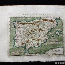 Arte: MAPA DE ESPAÑA Y PORTUGAL, 1596. PTOLOMEO/MAGINI/KARERA/PORRO. Lote 124530223