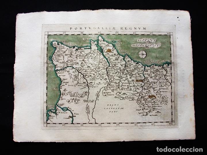 MAPA DEL REINO DE PORTUGAL, 1596. PTOLOMEO/MAGINI/KARERA/PORRO (Arte - Cartografía Antigua (hasta S. XIX))