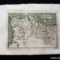 Arte: MAPA DEL REINO DE PORTUGAL, 1596. PTOLOMEO/MAGINI/KARERA/PORRO. Lote 124531419