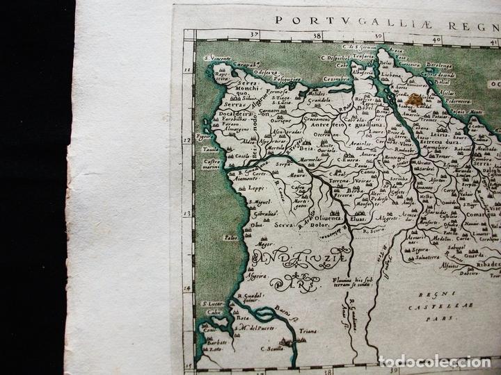 Arte: Mapa del Reino de Portugal, 1596. Ptolomeo/Magini/Karera/Porro - Foto 4 - 124531419