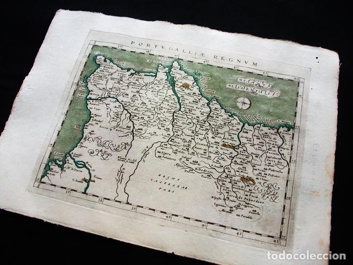 Arte: Mapa del Reino de Portugal, 1596. Ptolomeo/Magini/Karera/Porro - Foto 5 - 124531419