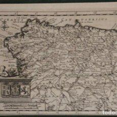 Arte: MAPA DE GALICIA, ASTURIAS , CASTILLA Y LEÓN (ESPAÑA), 1707. VAN DER AA. Lote 124912683