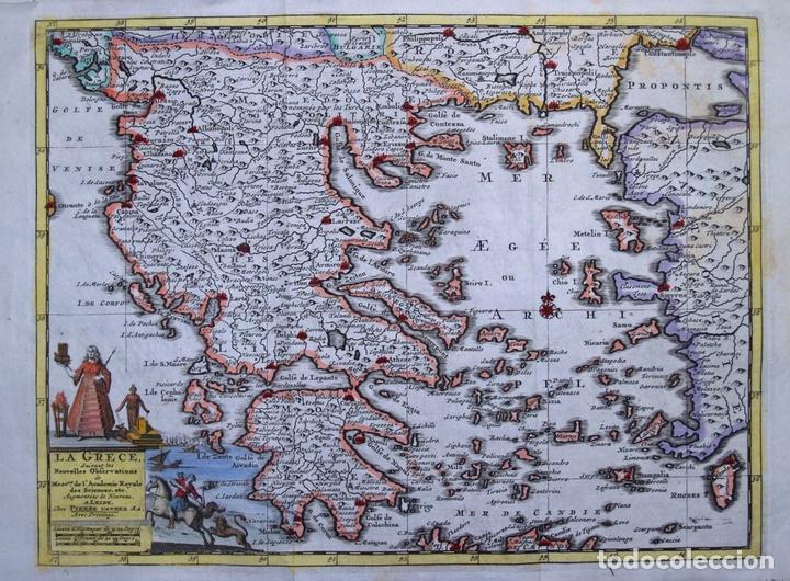 MAPA DE GRECIA (EUROPA), 1729. PIETER VAN DER AA (Arte - Cartografía Antigua (hasta S. XIX))