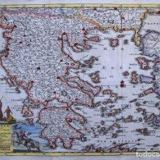 Arte: MAPA DE GRECIA (EUROPA), 1729. PIETER VAN DER AA. Lote 124916627