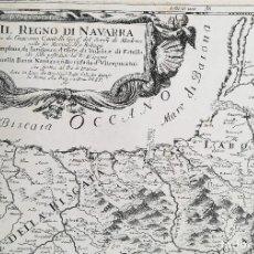 Arte: MAPA REYNO DE NAVARRA - PARTE DE PAIS VASCO , ARAGON, CASTILLA - CANTELLI 1690. Lote 125063007