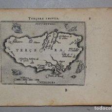 Arte: MAPA DE LA ISLA TERCEIRA (AZORES, PORTUGAL),1590. ORTELIUS. Lote 125303407