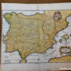 Arte: MAPA DE ESPAÑA, ORIGINAL,1646 [S.17], MATHIAS MERIAN, BUEN TAMAÑO. Lote 125842827