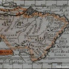 Arte: MAPA DE BRASIL (AMÉRICA DEL SUR), 1702. MULLER. Lote 125856287