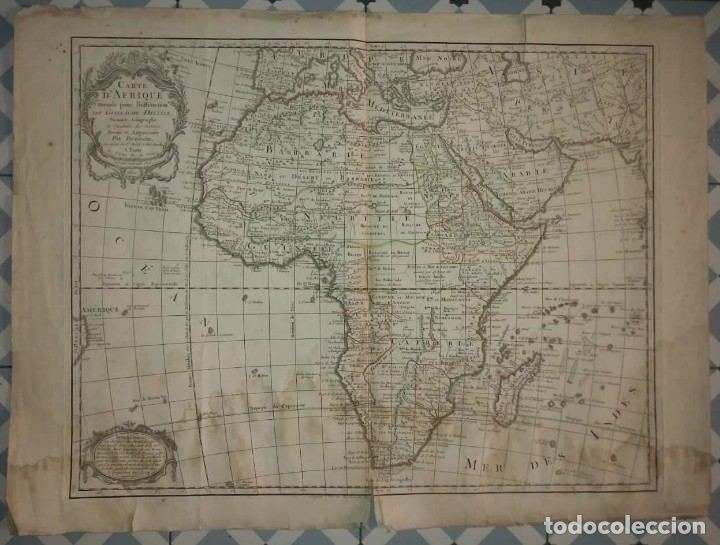 Mapa África Carte d,Afrique 1800 ver fotos y video R50 - 113718351
