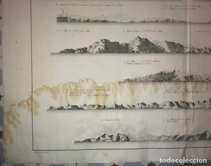 Arte: 1786 Carta marina Costa de España. Atlas de Tofiño. Mapa Isla de Mallorca 96cm x 62cm - Foto 5 - 113719919