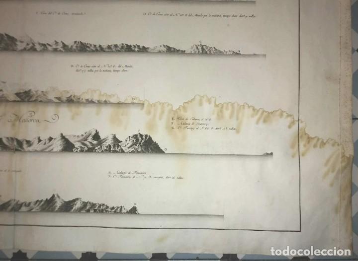 Arte: 1786 Carta marina Costa de España. Atlas de Tofiño. Mapa Isla de Mallorca 96cm x 62cm - Foto 6 - 113719919