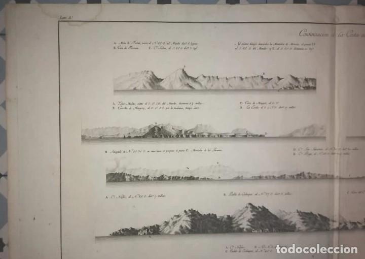Arte: 1786 Carta marina Costa de España. Atlas de Tofiño. Mapa Isla de Mallorca 96cm x 62cm - Foto 3 - 113719919