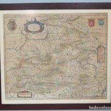 Arte: 1634.- MAPA CASTILLA. UTRIUSQUE CASTILIAE NOVA DESCRIPTIO. BLAEU. Lote 126046915