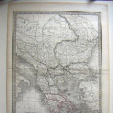 Arte: MAPA ANTIGUO ORIGINAL DE TURQUÍA EUROPEA Y GRECIA - TURQUIE D'EUROPE ET GRÈCE POR C. V. MONIN. Lote 126767431