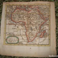 Arte: MAPA DE ÁFRICA, 1700. NICOLÁS SANSON. Lote 126800291