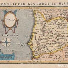 Arte: ANTIGUO MAPA DE ASTURIAS, CANTABRIA Y LEÓN (ESPAÑA), 1616. BERTIUS/HONDIUS. Lote 126803467