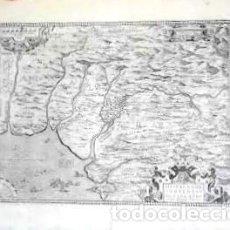 Arte: MAPA ANTIGUO ANDALUCIA ORTELIUS AÑO 1579, EDICIÓN LATINA, CON CERTIF. AUTENTICIDAD.. Lote 126100023