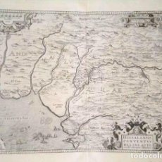 Arte: MAPA ANTIGUO ANDALUCIA ORTELIUS AÑO 1579, EDICIÓN FRANCESA, CON CERTIFICADO DE AUTENTICIDAD. Lote 126855651