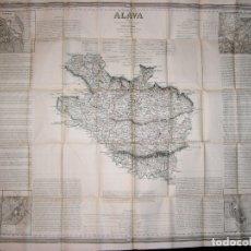 Arte: MAPA ANTIGUO ALAVA COELLO AÑO 1848 CON CERTIFICADO AUTENTICIDAD. MAPAS ANTIGUOS DEL PAÍS VASCO. Lote 101180475
