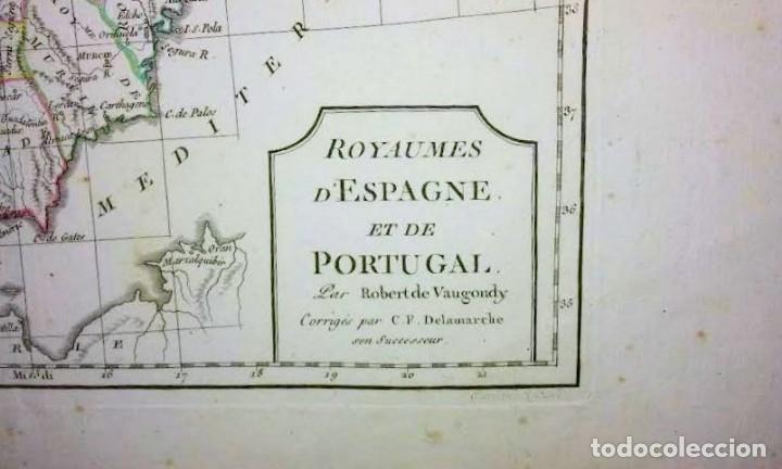 Arte: Mapa antiguo España año 1795 con certificado de autenticidad. Mapas antiguos de España - Foto 3 - 114674939