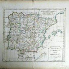 Arte: MAPA ANTIGUO ESPAÑA AÑO 1795 CON CERTIFICADO DE AUTENTICIDAD. MAPAS ANTIGUOS DE ESPAÑA. Lote 114674939