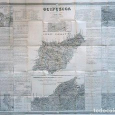 Arte: MAPA ANTIGUO GUIPÚZCOA AÑO 1848 COELLO CON CERTIFIC. AUTENT. MAPAS ANTIGUOS GUIPÚZCOA PAÍS VASCO. Lote 52562197