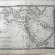 Art: MAPA ANTIGUO ORIGINAL DE GÉOGRAPHIE DES HÉBREUX - GEOGRAFÍA DE LOS HEBREOS POR C.V.MONIN. Lote 127505751