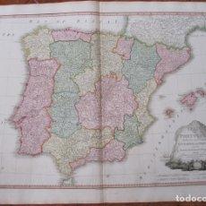 Arte: GRAN MAPA DE ESPAÑA Y PORTUGAL, 1796. WILLIAN FADEN. Lote 127865403
