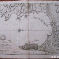 Arte: GRAN MAPA DE LA BAHÍA DE GIBRALTAR ( ANDALUCÍA, SUR DE ESPAÑA), 1783. FADEN. Lote 127865743