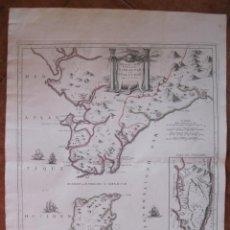 Arte: GRAN MAPA DEL ESTRECHO DE GIBRALTAR, ENTRE ESPAÑA Y MARRUECOS (EUROPA, AFRICA), 1780. SANTINI. Lote 127964983