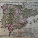 Arte: MAPA ESPAÑA Y PORTUGAL - IMPRESO EN AMSTERDAM ABUNDANTE TOPONIMIA Y REFERENCIAS- AÑO 1792. Lote 128076879