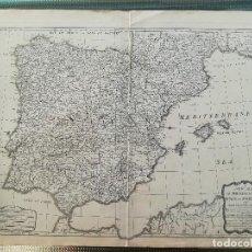 Arte: MAPA DE ESPAÑA Y PORTUGAL - EDICION INGLESA - AÑO 1794 - GRAN FORMATO. Lote 128104547