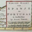 Arte: MAPA ESPAÑA Y PORTUGAL - AÑO 1647 - EN PEREFECTO ESTADO - ORIGINAL. Lote 128229615