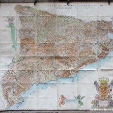 Arte: MAPA - NUEVA DESCRIPCIÓN GEOGRAPHICA DE CATALUÑA , JOSEP APARICI, 1769. EDICIÓN DE 1720. COLOREADO.. Lote 128231423