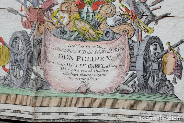 Arte: NUEVA DESCRIPCIÓN GEOGRAPHICA DE CATALUÑA , JOSEP APARICI, 1769. EDICIÓN DE 1720. COLOREADO. - Foto 2 - 128231423